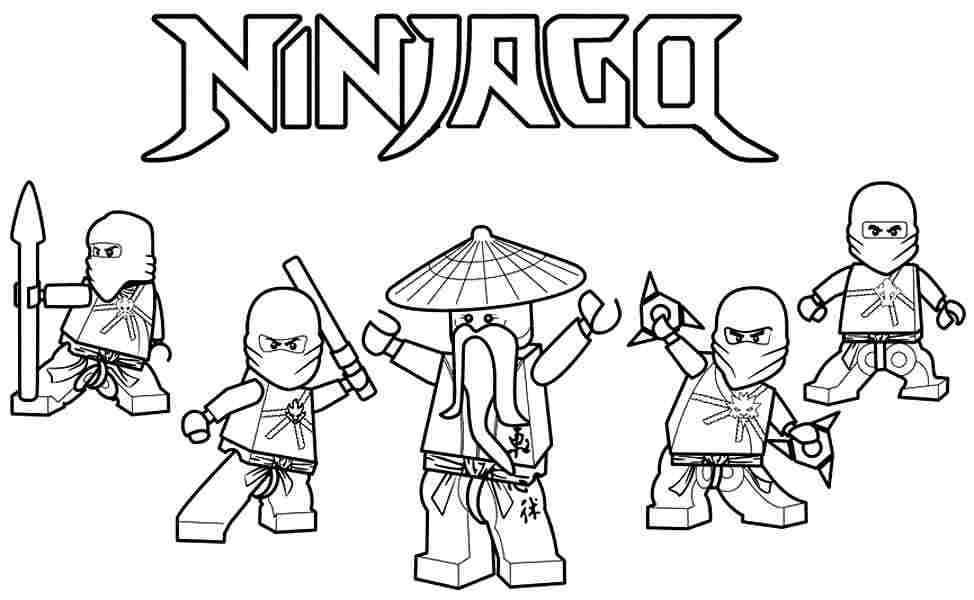 974x600 Lego Ninjago Coloring Pages Free
