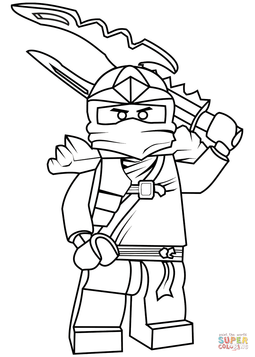 823x1151 Terrific Ninjago Kai Zx Coloring Pages Lego Jay Zx Page Free