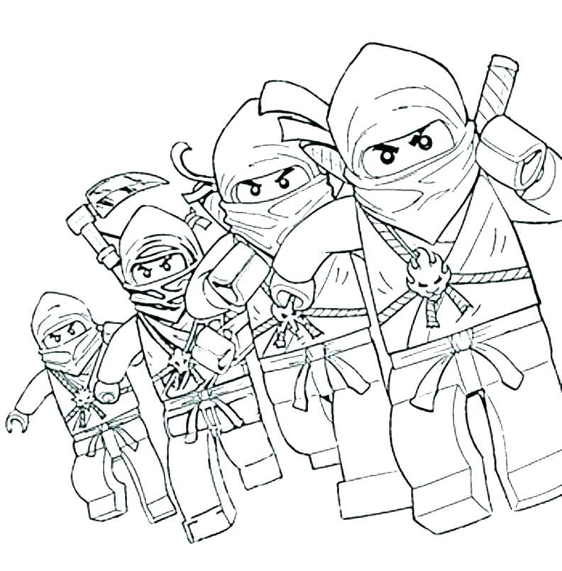 792x805 Lego Ninjago Coloring Pages Kai