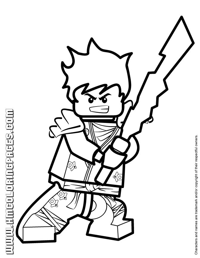 Lego Ninjago Coloring Pages Kai Zx_
