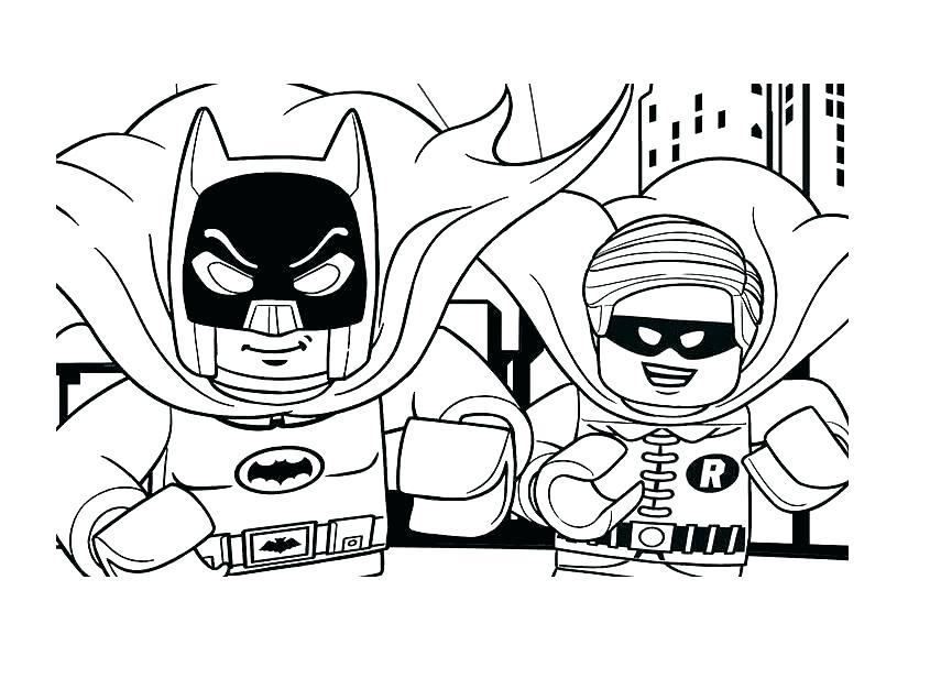 845x626 Lego Ninjago Coloring Pages Zane Zx Batman And Robin Super Heroes