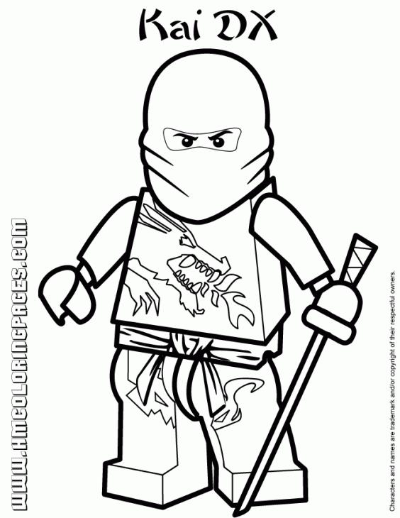 564x730 Lego Ninjago Ninja Coloring Pages
