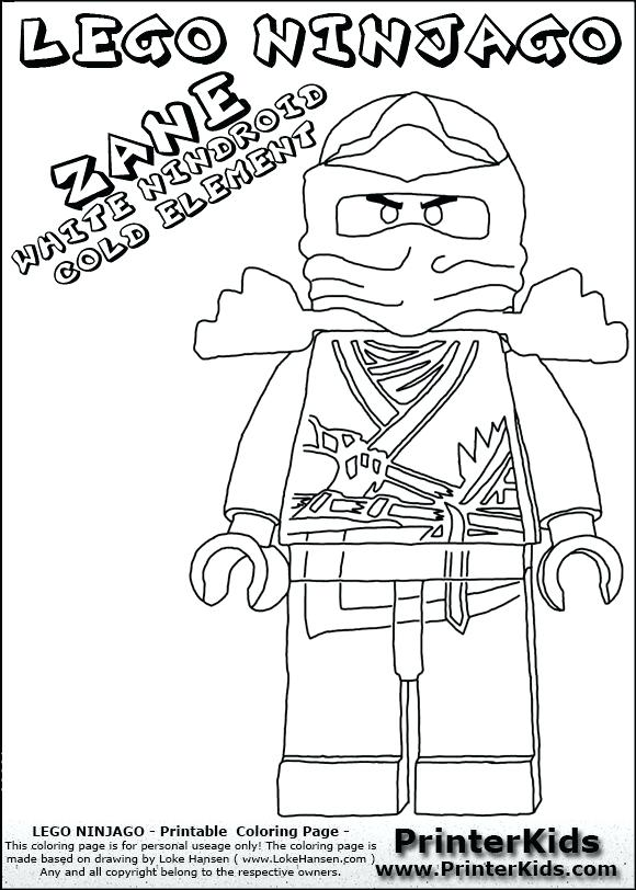 580x812 Titanium Zane Ninjago Coloring Pages Here Printable Page Images