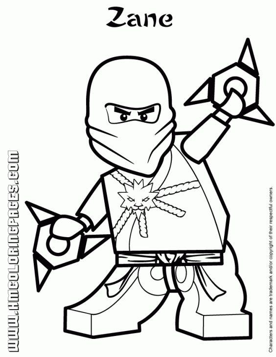 564x730 Zane The White Ninja From Lego Ninjago Coloring Page Fun