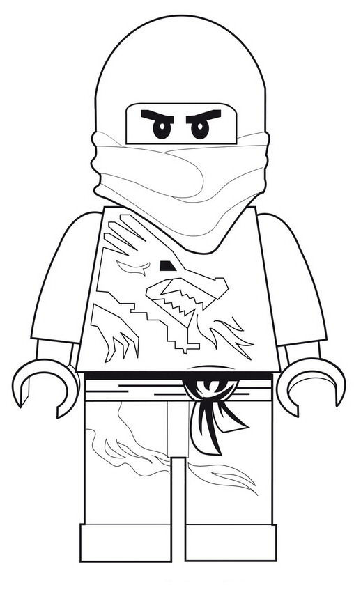 Lego Ninjago Coloring Pages Zane At Getdrawings Com Free For