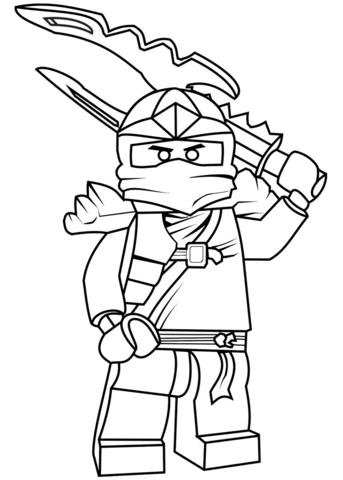 343x480 Lego Ninjago Jay Zx Coloring Pages