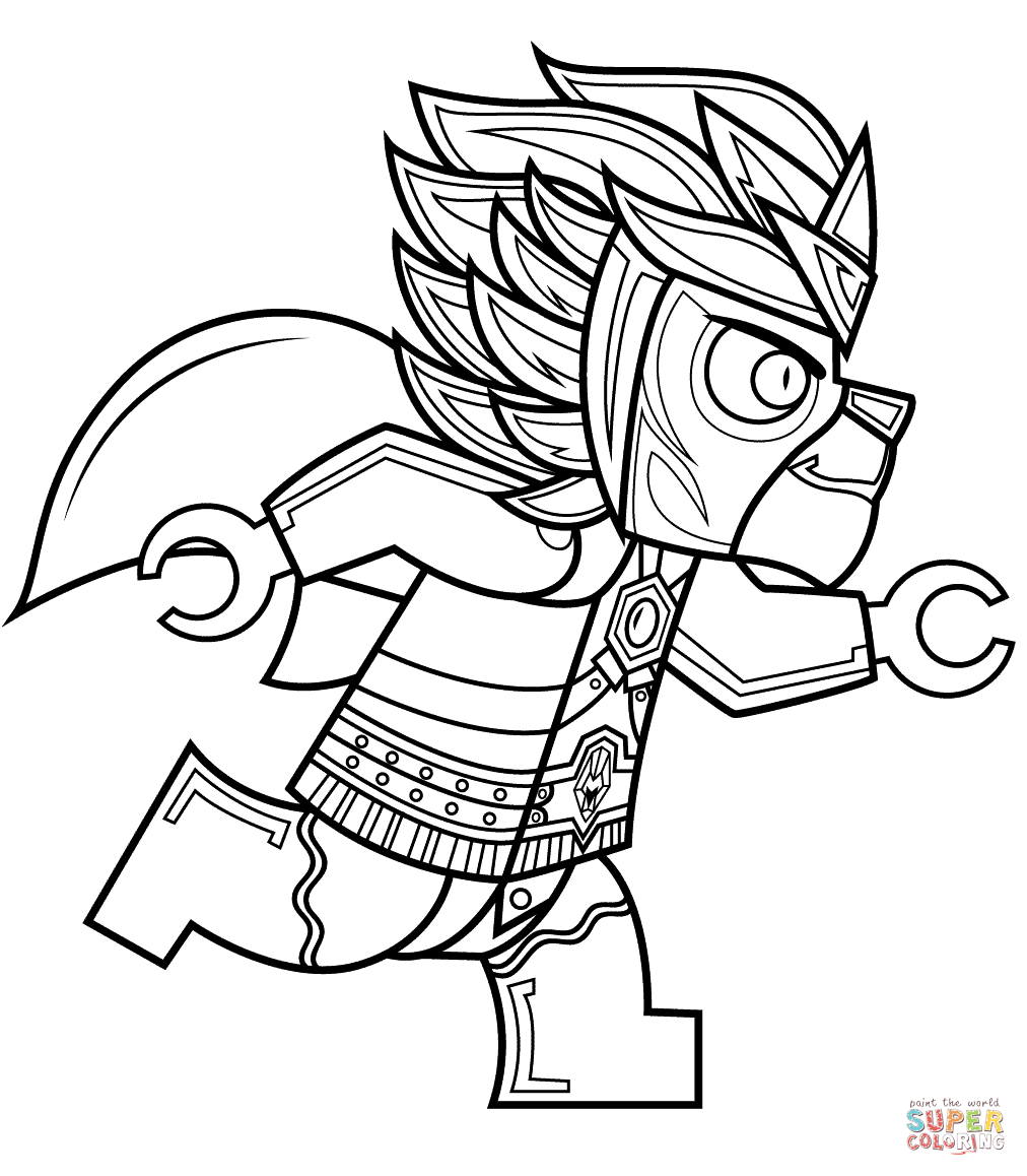 1012x1158 Lego Chima Laval Coloring Page Free Printable Pages