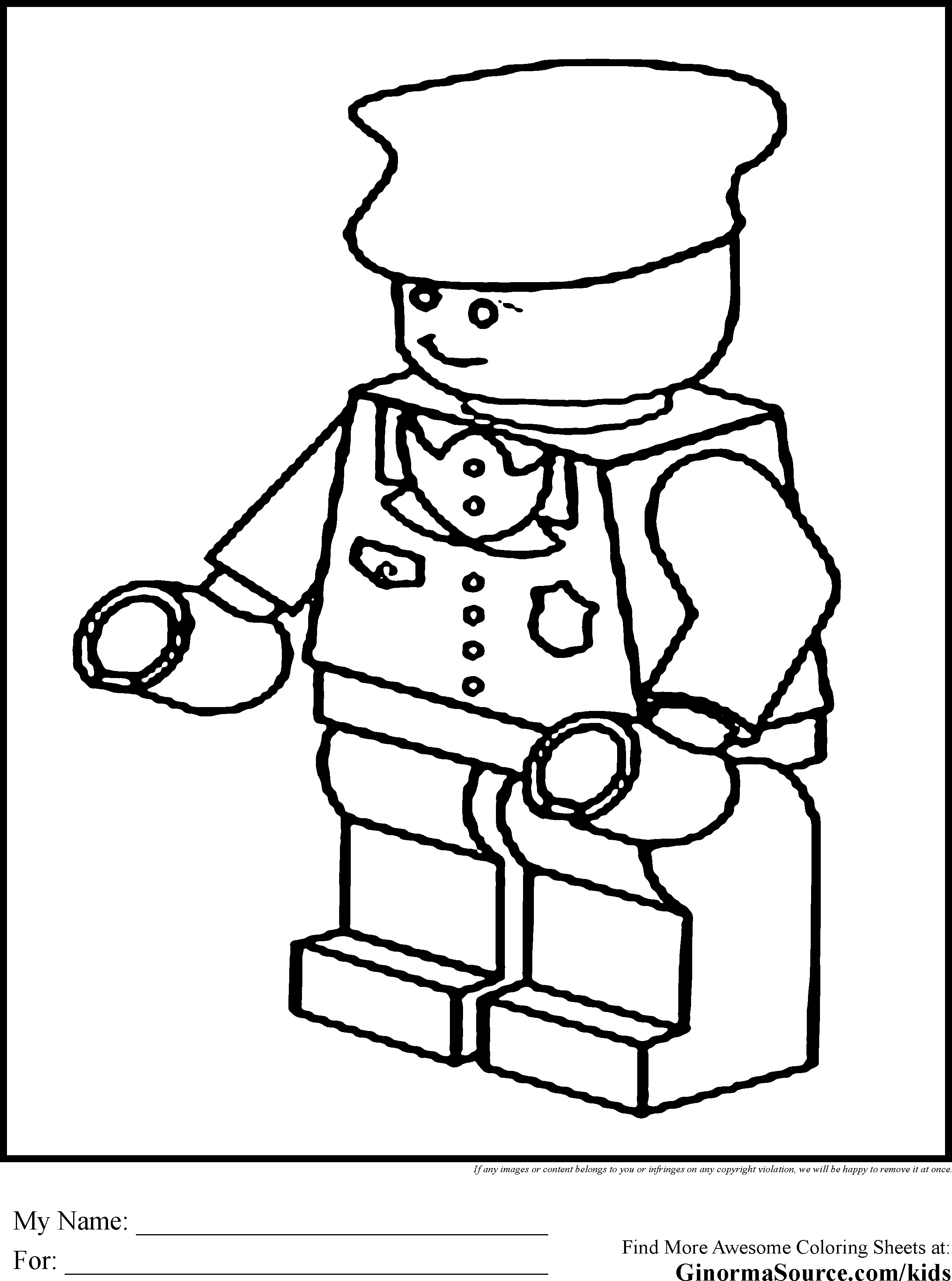 2459x3310 Lego Person Coloring Page Chool Bag Colouring Pages Para Lego