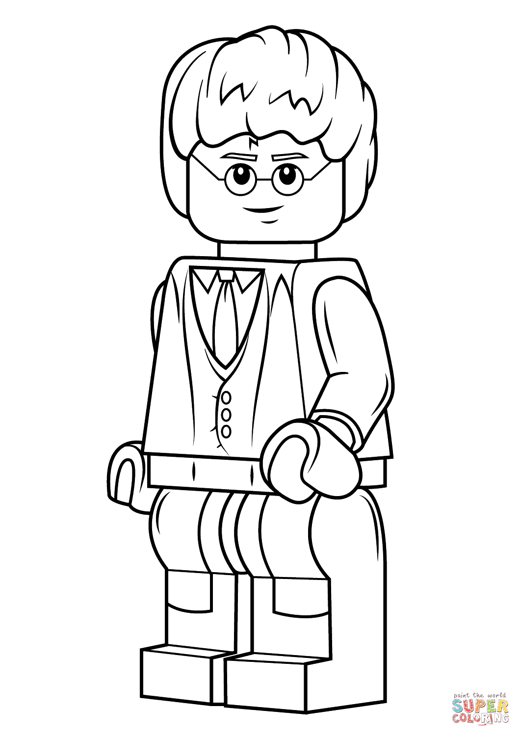 1060x1500 Growth Lego Person Coloring Pages Harry Potter