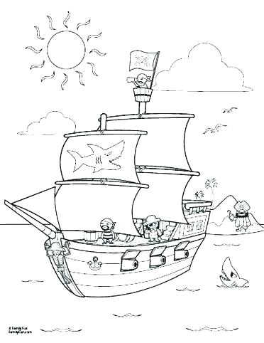 372x482 Pirate Ship Coloring Sheet Pirate Ship Coloring Pages Free Pirate
