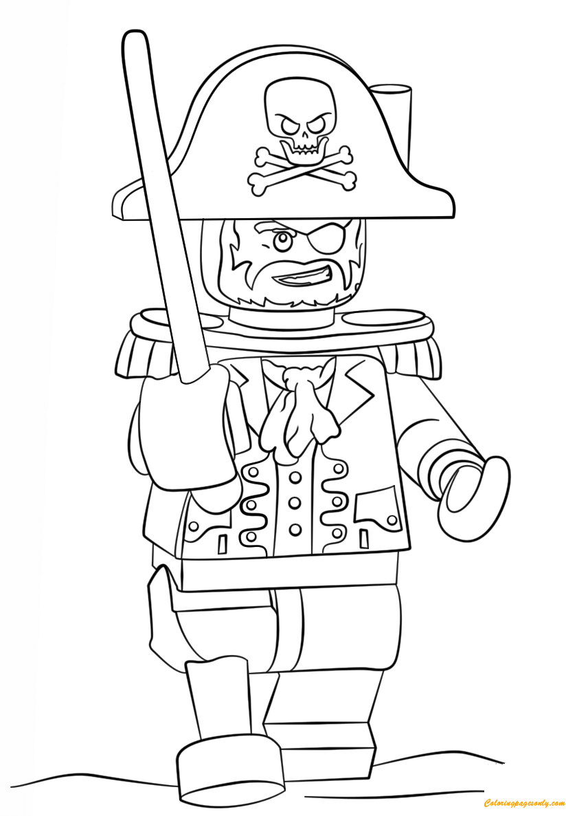 824x1186 Lego Pirate Coloring Page