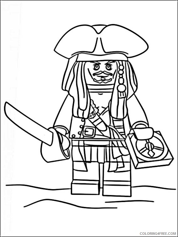 568x758 Lego Pirates Of The Caribbean Coloring Pages Printable