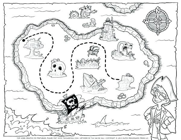 600x464 Pirate Color Page Treasure Map Coloring Page Pirate Treasure Map