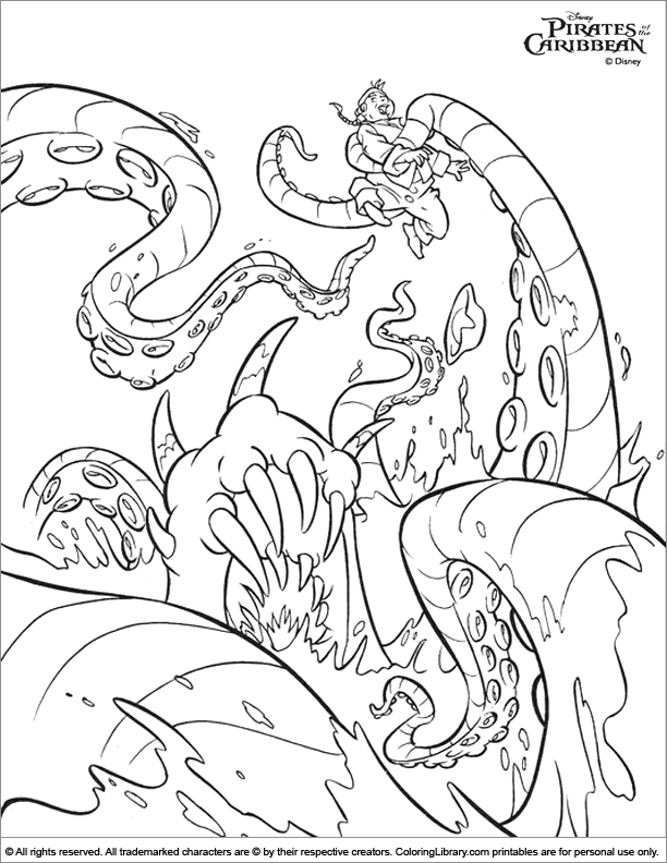 612x792 Of The Caribbean Coloring Picture
