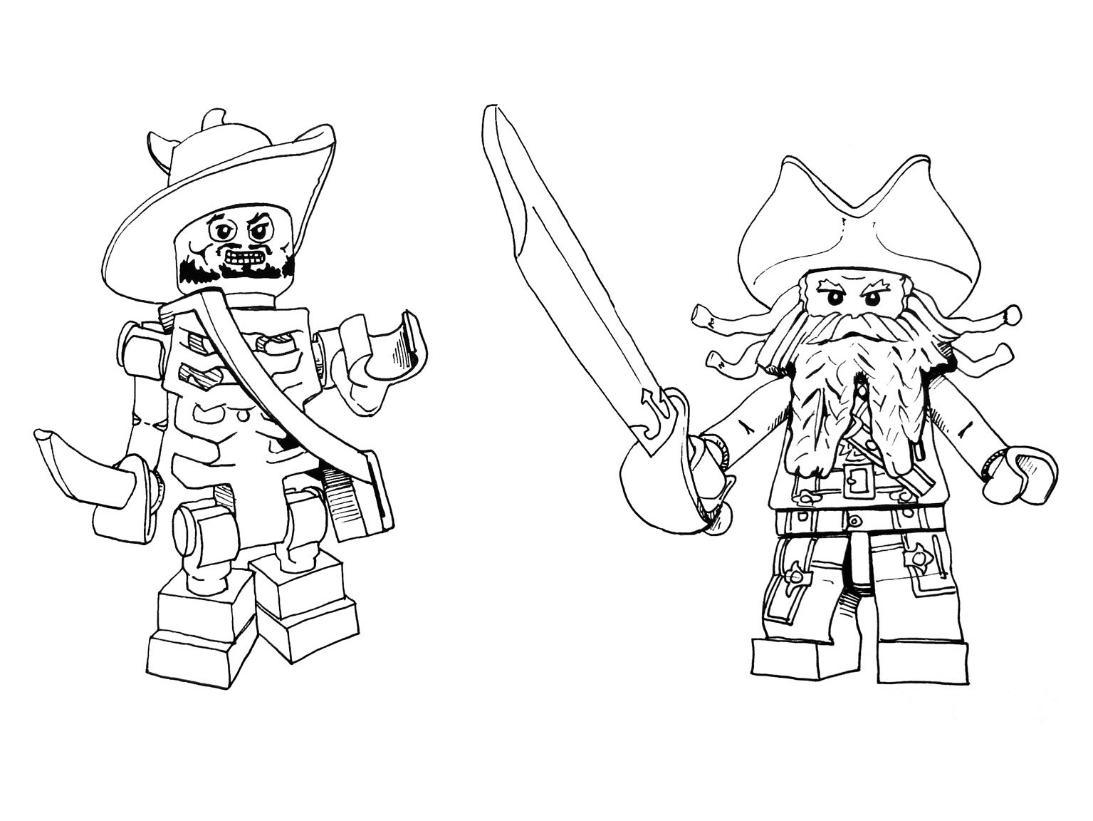 1535x1152 Pirates Of The Caribbean Coloring Pages Lego Pirate Page Party