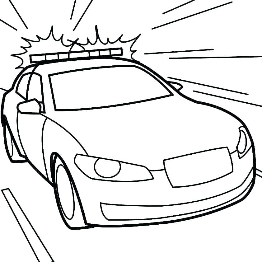 Lego Police Car Coloring Pages At Getdrawings Com Free For