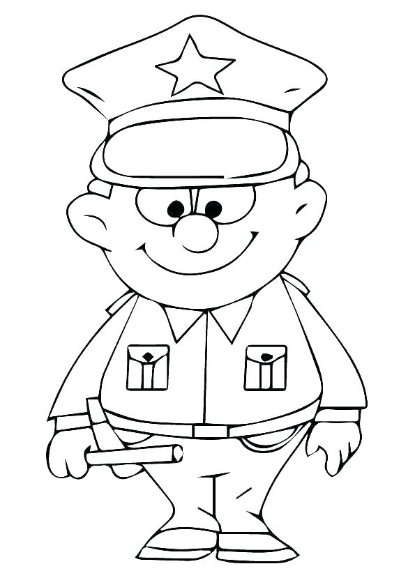 595x842 Police Coloring Pages To Print Police Colouring Pages Police