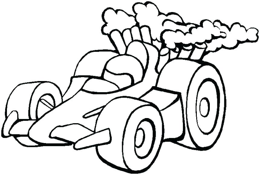 Lego Race Car Coloring Pages
