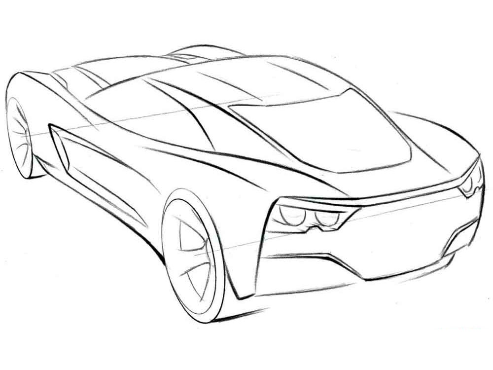 1000x750 Cars Coloring Pages