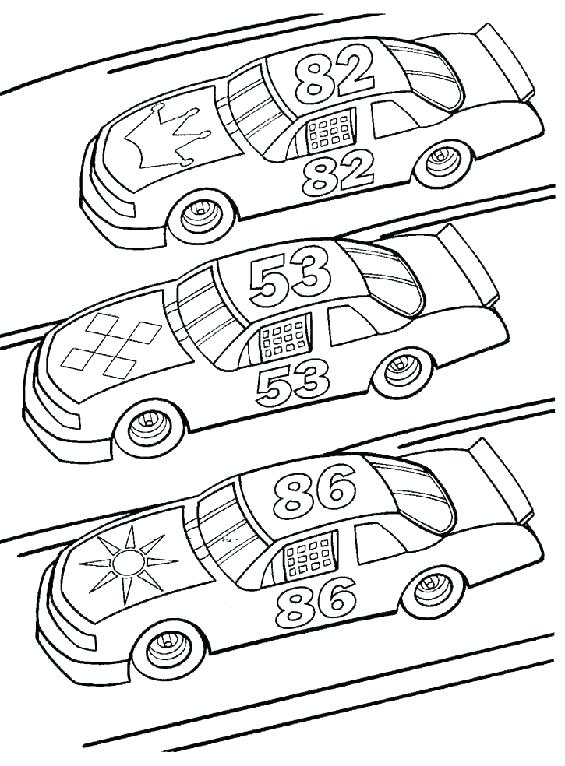 565x766 Three Different Race Car Coloring Page Free Printable Coloring