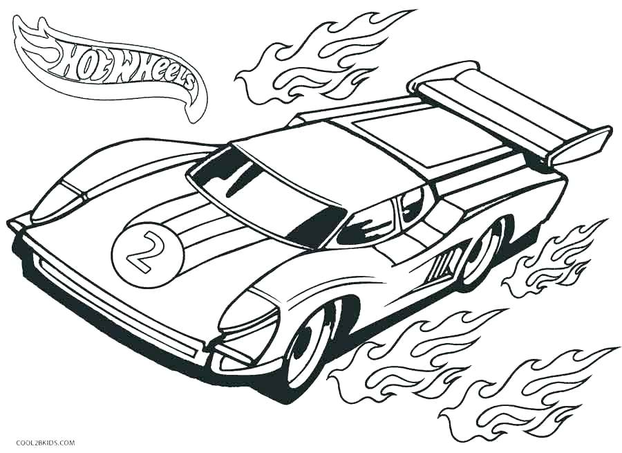 900x655 Racecar Coloring Page