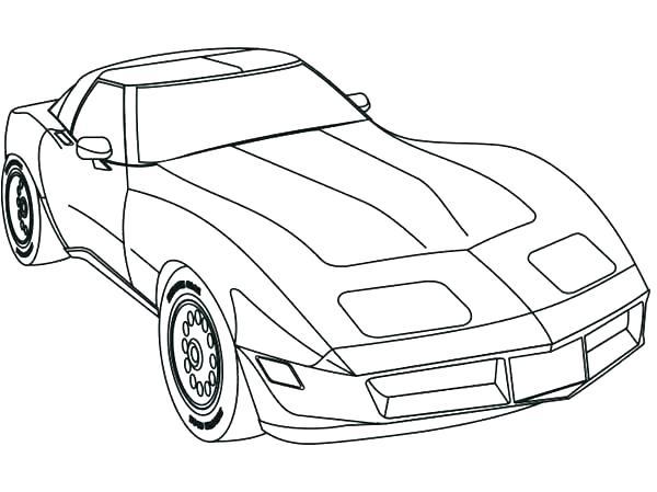 600x449 Racecar Coloring