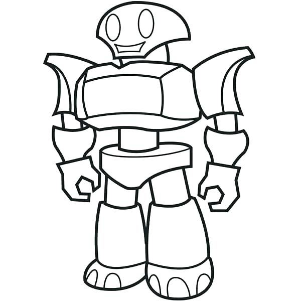 600x600 Robot Coloring Page Robot Coloring Pages Robot Coloring Pages