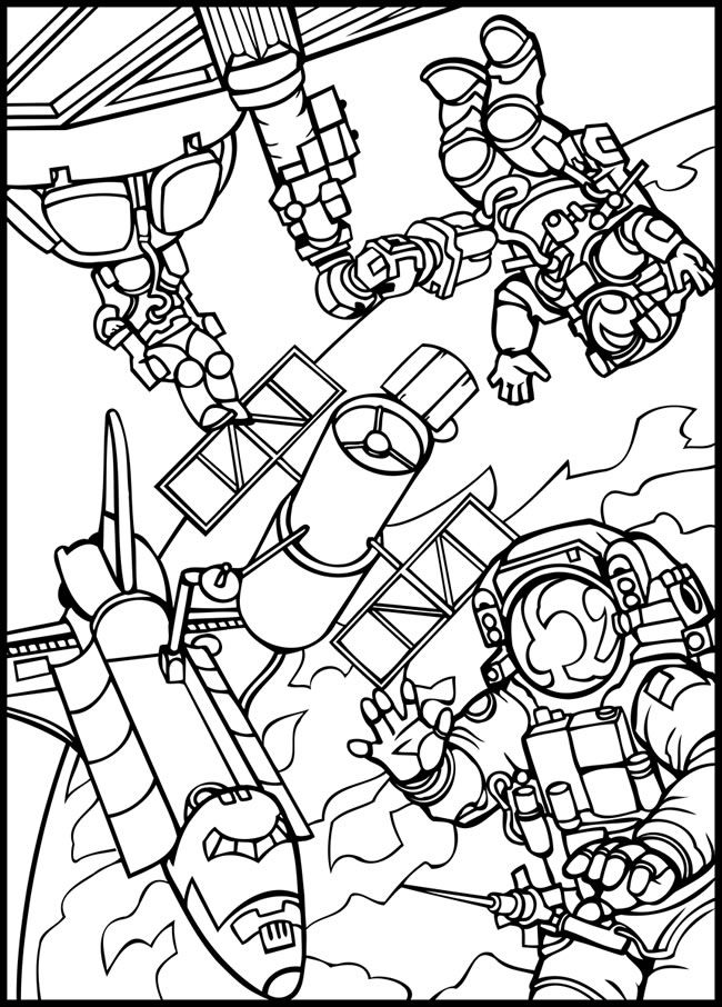 650x906 Outer Space Coloring Pages Good For Throughout Idea