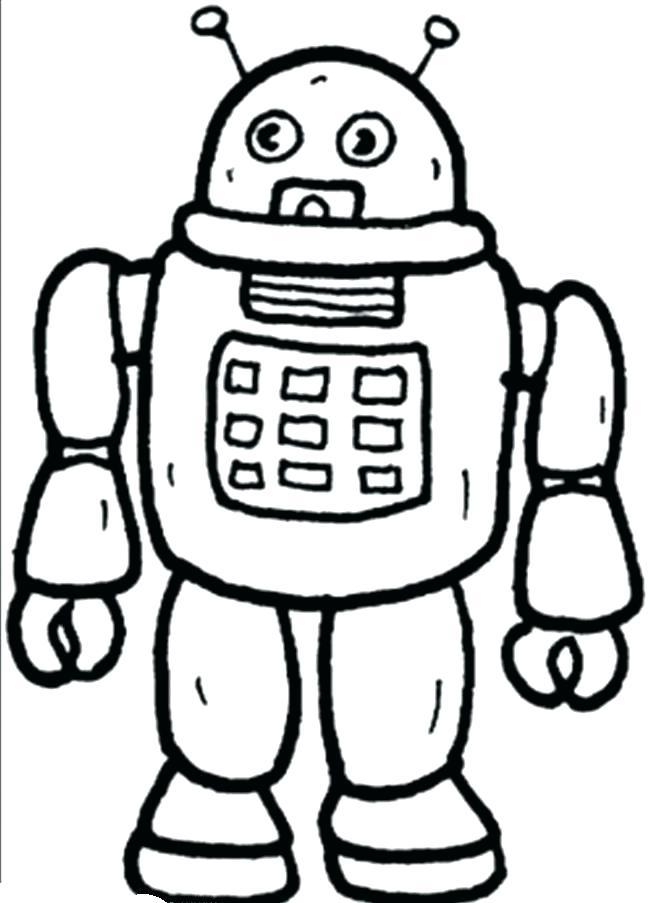 650x903 Robot Coloring Pages Robot Coloring Pages To Print Robots