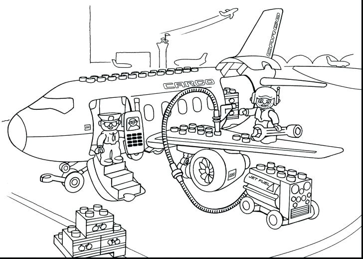 728x519 Lego Police Coloring Pages