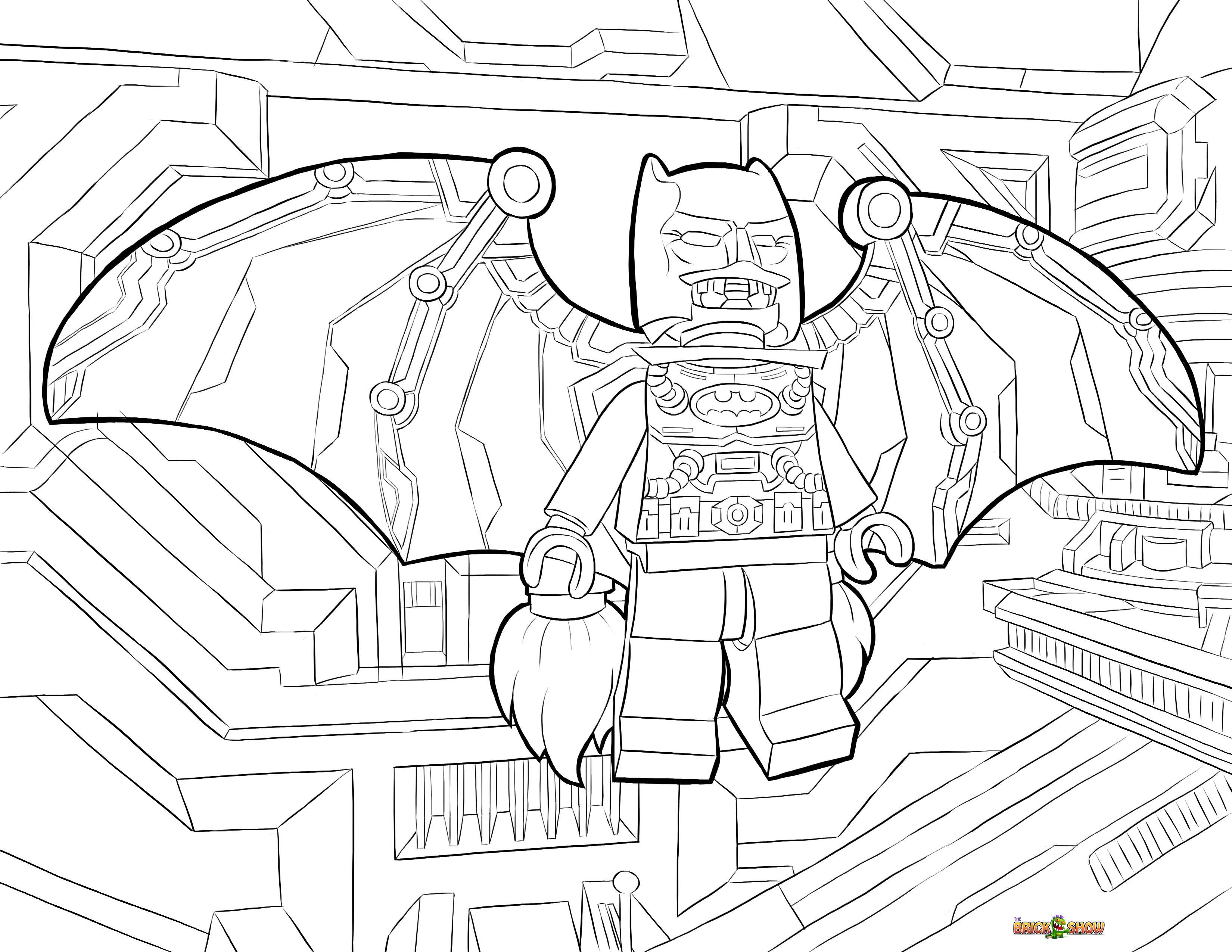 3300x2550 Lego Batman Space Suit Coloring Page, Printable Sheet