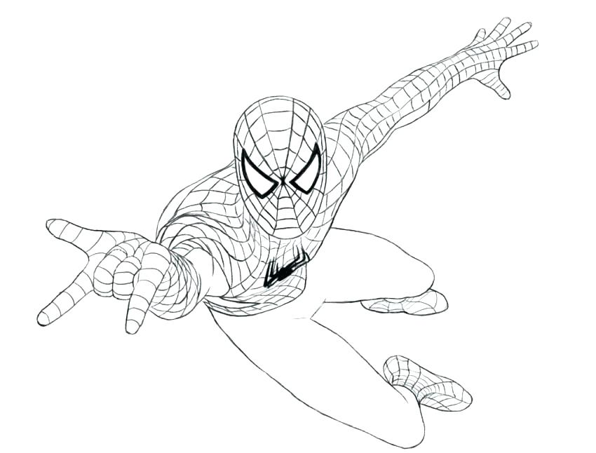 850x646 Amazing Spider Man Coloring Pages Spider Man Coloring Sheets