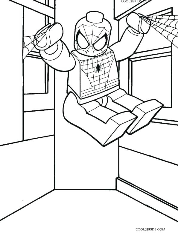 595x790 Lego Spiderman Coloring Pages Lego Spiderman Coloring Pages Games