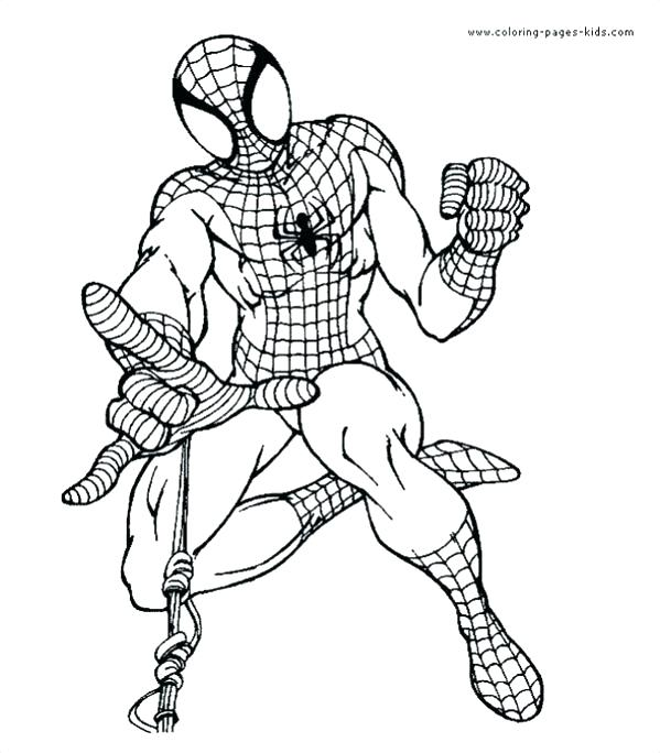 599x684 Spider Man Color Page Ultimate Spider Man Coloring Pages Lego