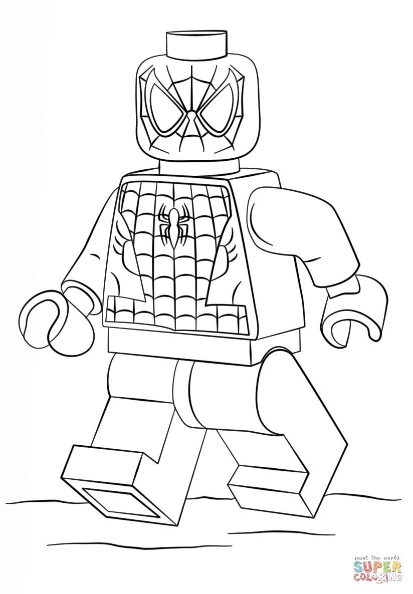 Lego Spiderman Coloring Pages To Print