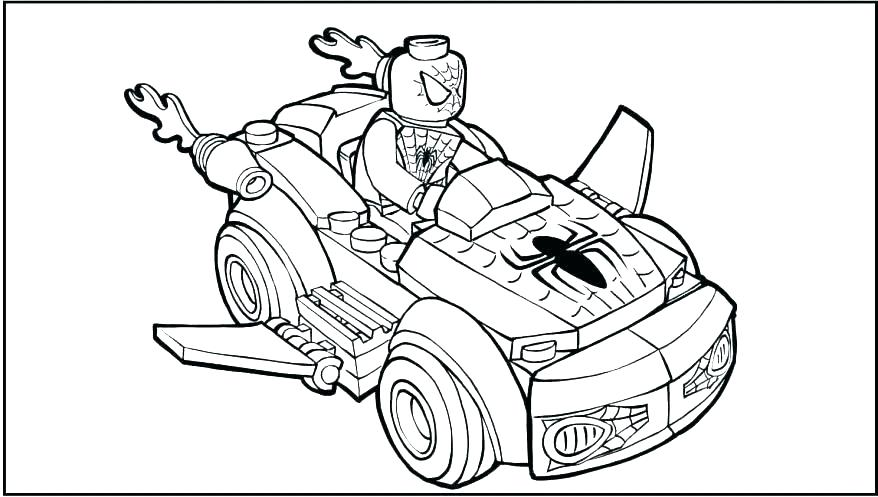 Lego Spiderman Coloring Pages To Print At Getdrawings Free Download