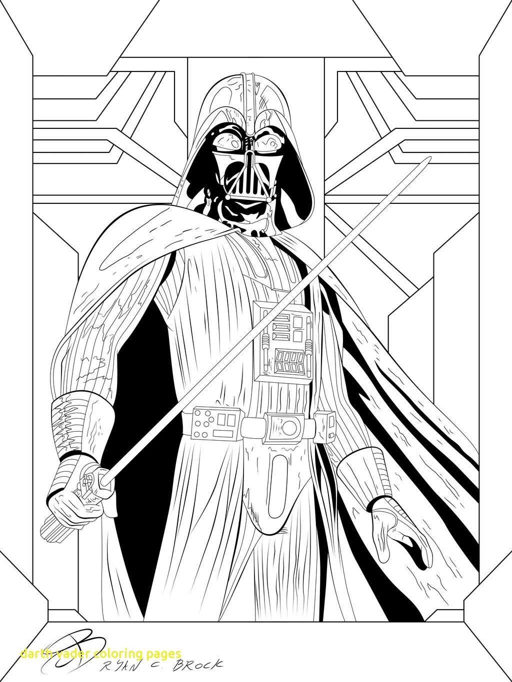 1024x1365 Awesome Beautiful Star Wars Darth Vader Coloring Page With Star