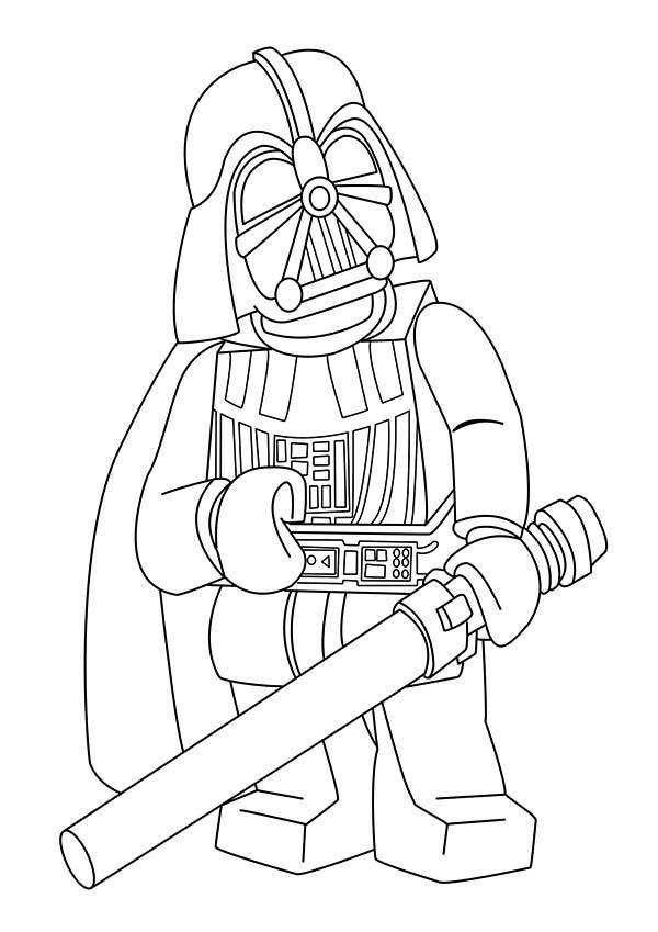600x849 Cartoon Of Darth Vader In Star Wars Coloring Page