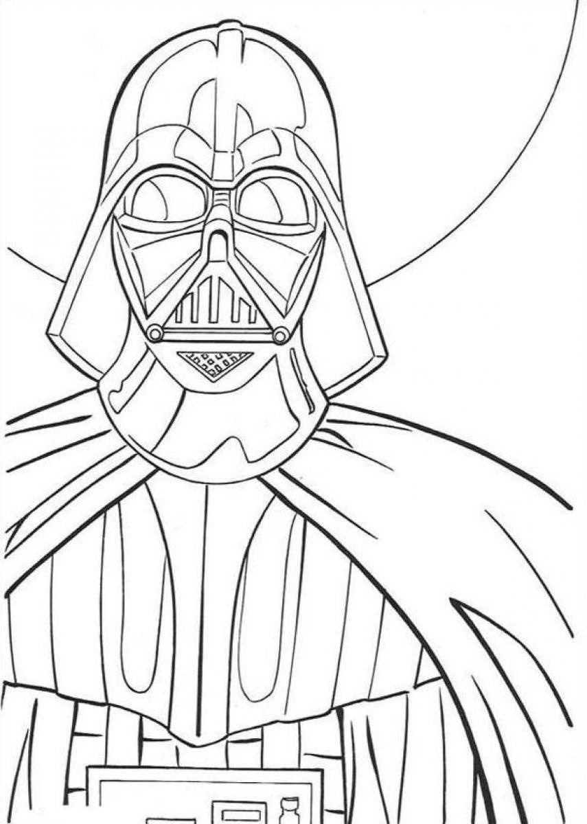 855x1200 Darth Vader Coloring Pages