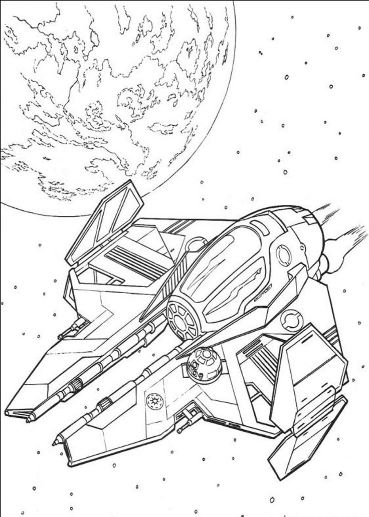 Lego Star Wars Ships Coloring Pages_