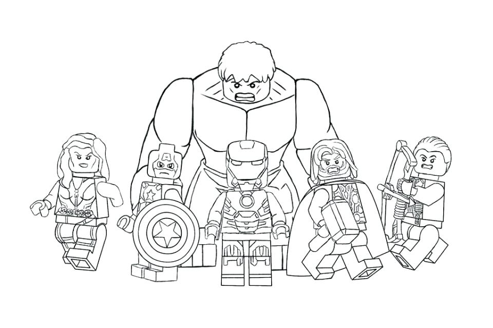 Lego Superhero Coloring Pages At Getdrawings Com Free For