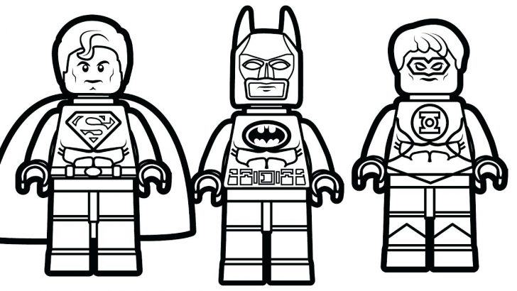 Lego Superman Coloring Pages at GetDrawings | Free download