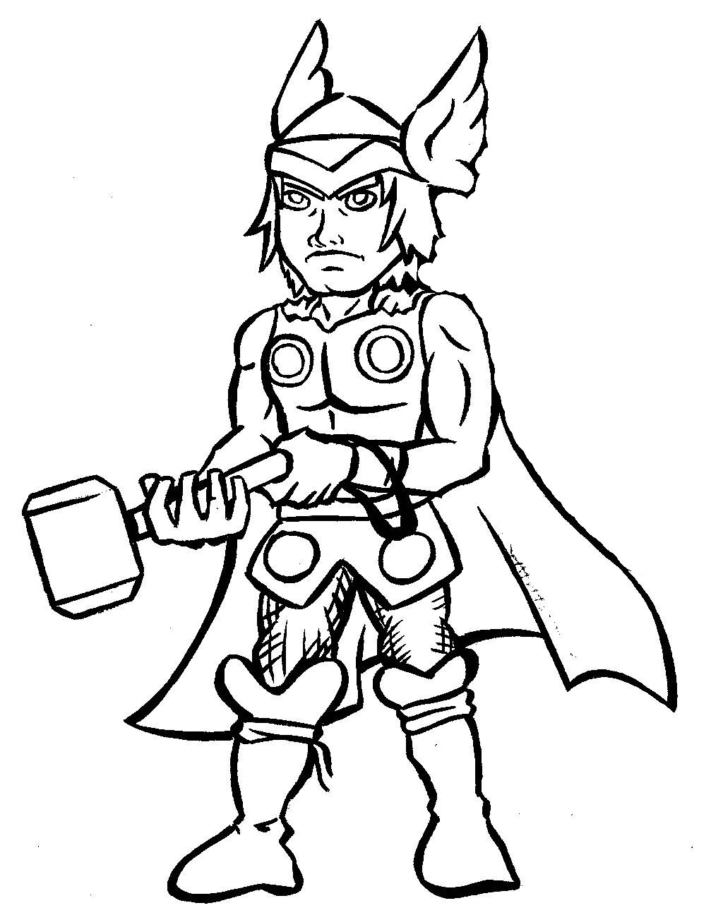 1024x1296 Thor Coloring Pages