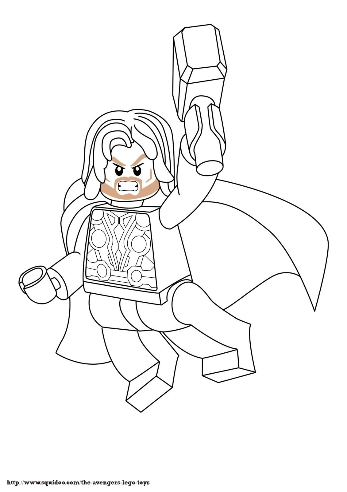 1131x1600 Avenger Lego Coloring Page Thorjpg Ferris Only