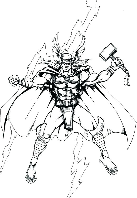 Lego Thor Coloring Pages at GetDrawings | Free download