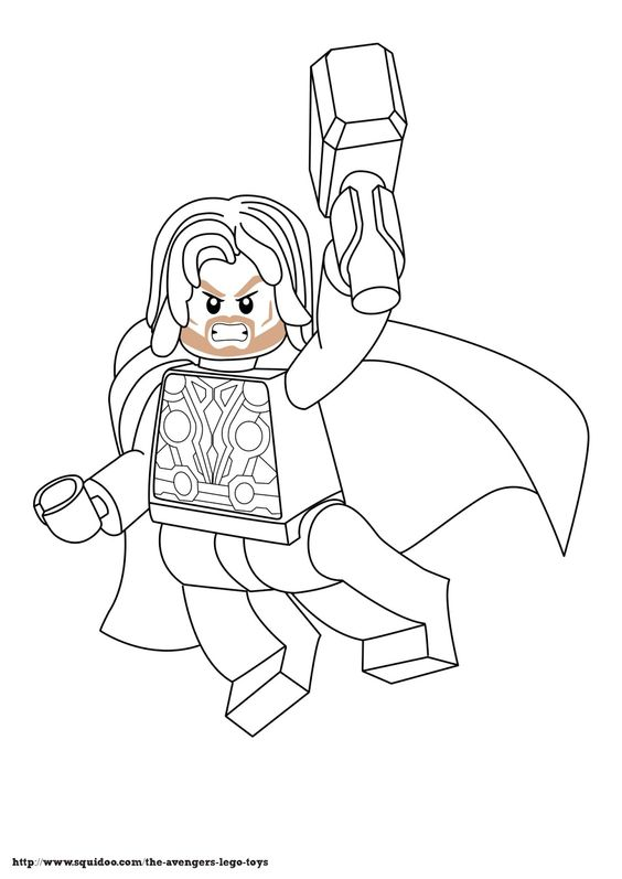 564x797 Lego Thor Free Coloring Page Avengers, Disney, Kids, Movies