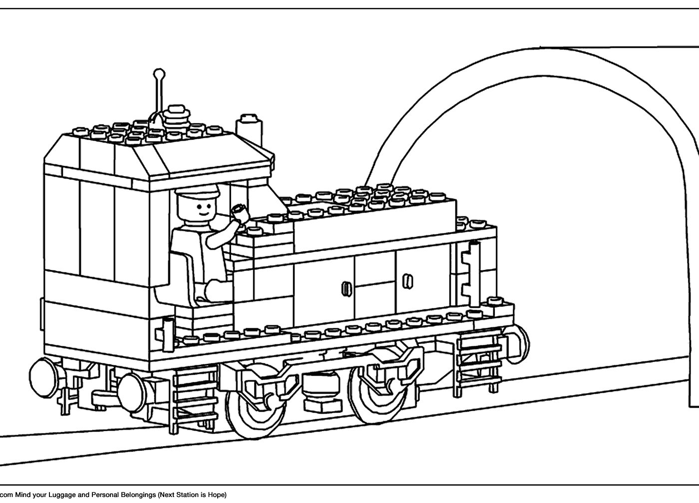 1400x1008 Fantastic Lego Train Coloring Pages For Your With Lego Train