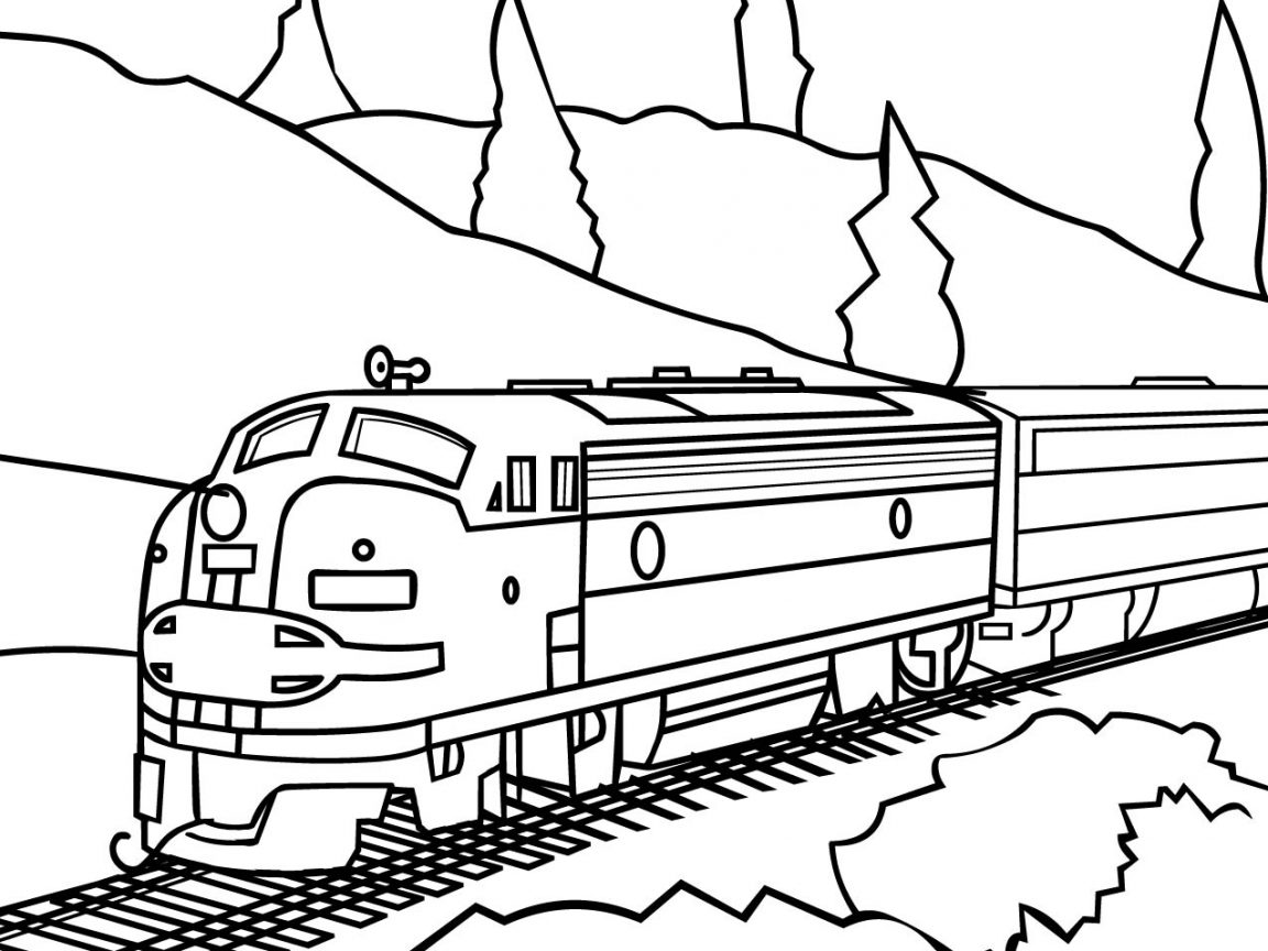 Lego Train Coloring Pages at GetDrawings | Free download