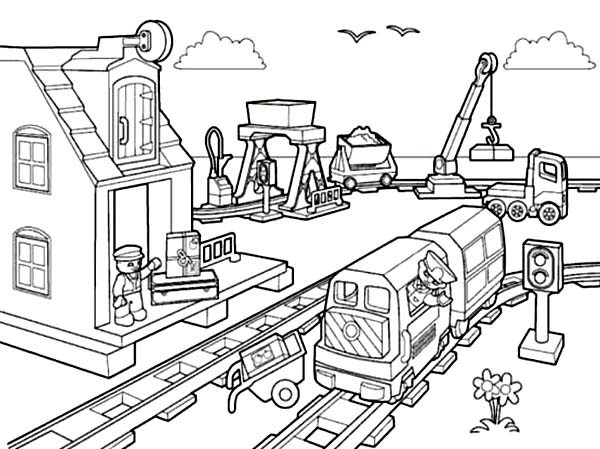 600x449 Lego City Coloring Pages Elegant Lego Train Coloring Pages