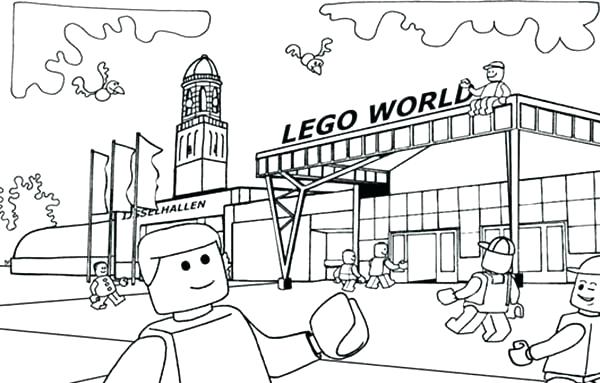 600x383 Lego Train Coloring Pages Train Coloring Pages Backgrounds